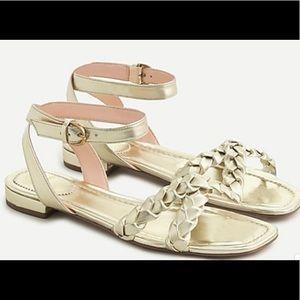 Abbie braided sandals in metallic